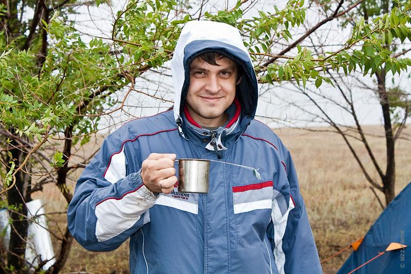 sizz. пью чай на Эльтоне при сильном ветре