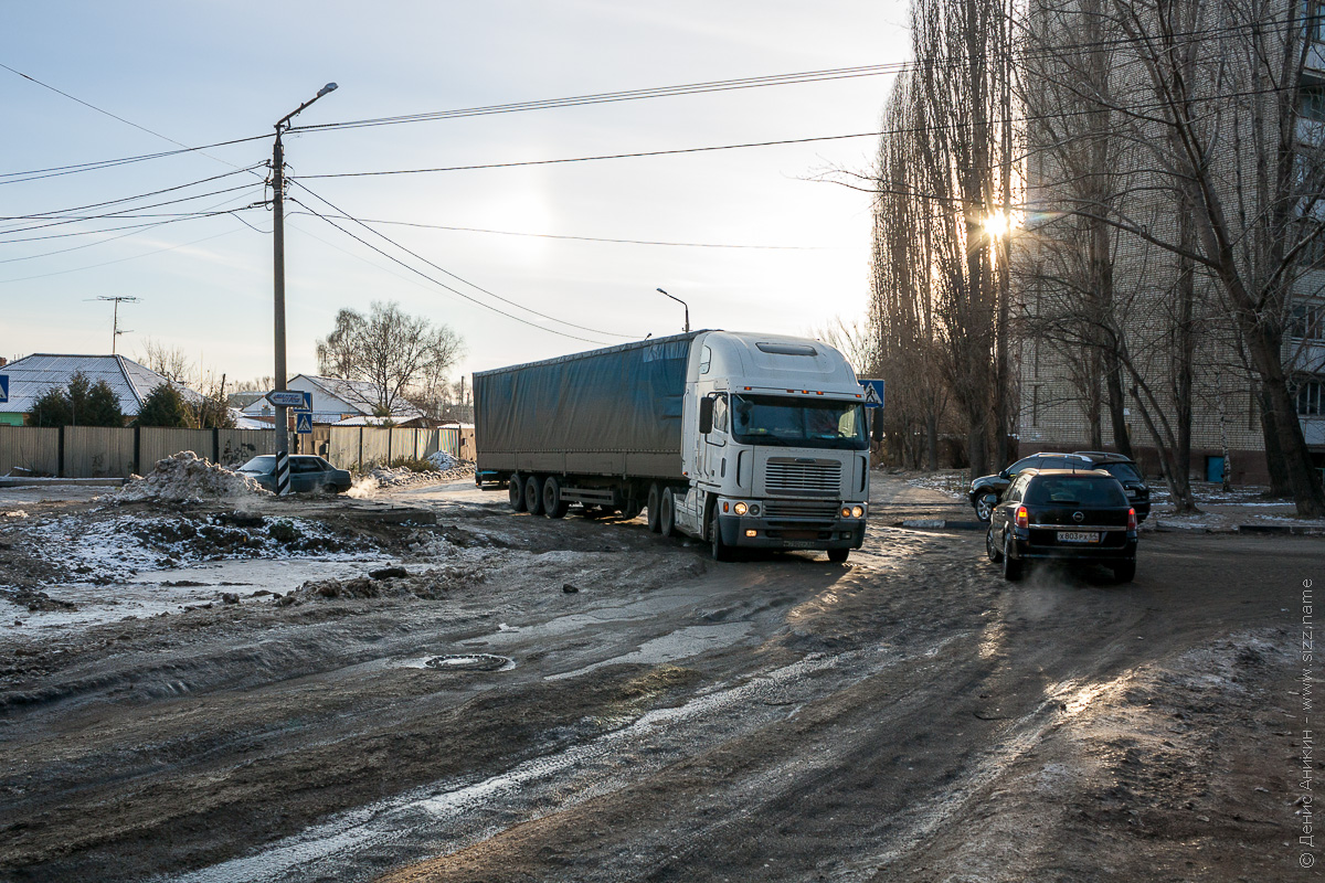 грузовик застрял на беговой