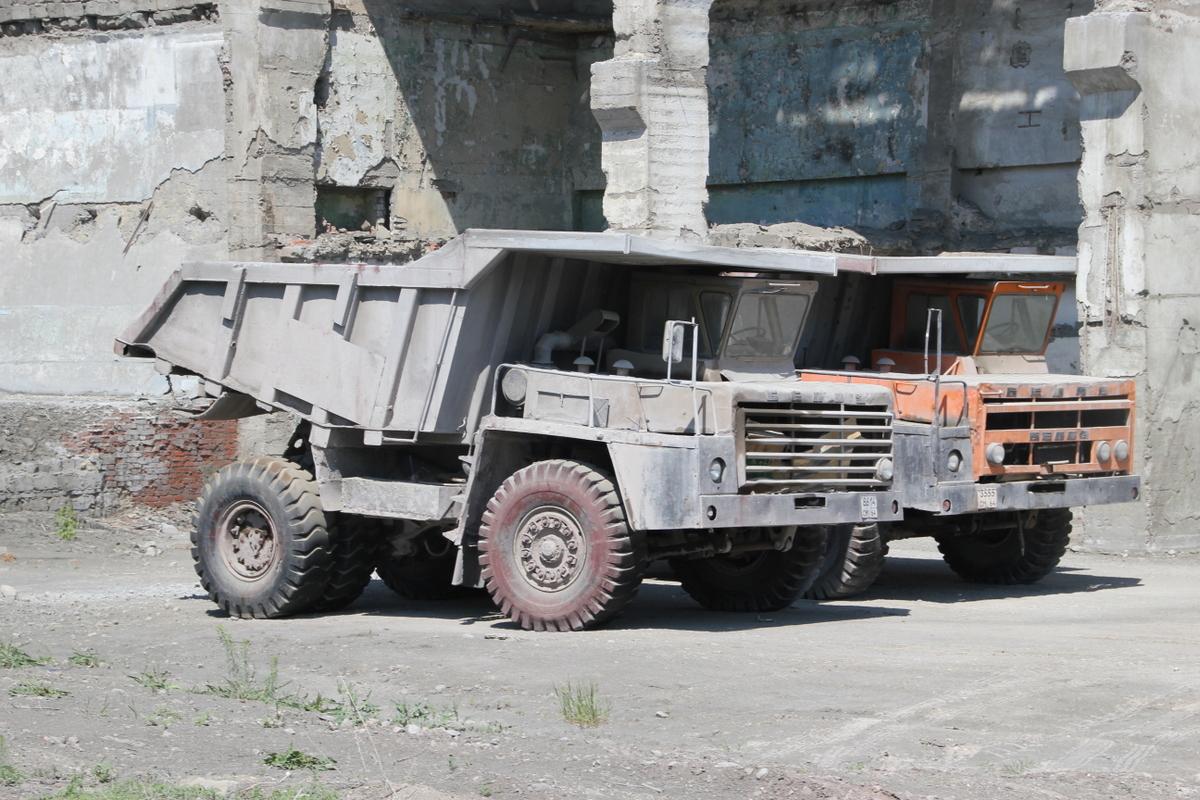 3. БелАз на цементом заводе Вольска