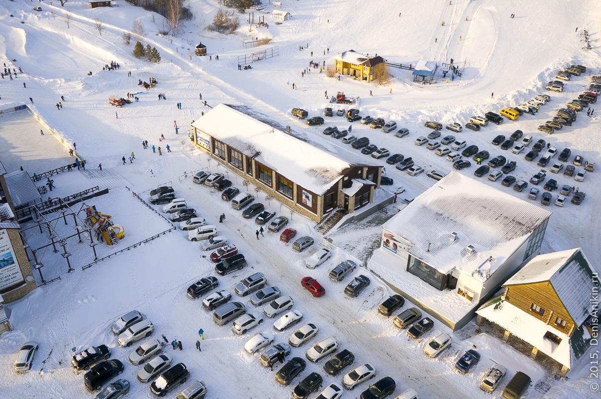 Хвалынский горноложный курорт с высоты 1