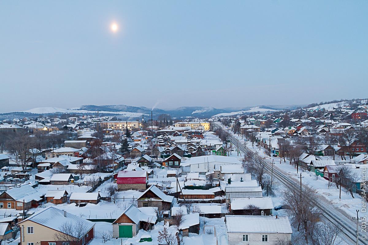 Хвалынск зимой с высоты 1