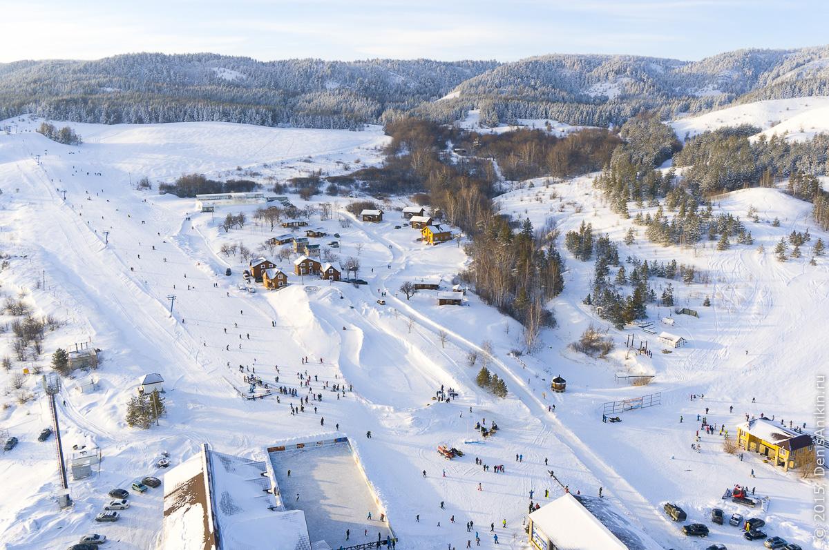 Хвалынский горноложный курорт с высоты 3