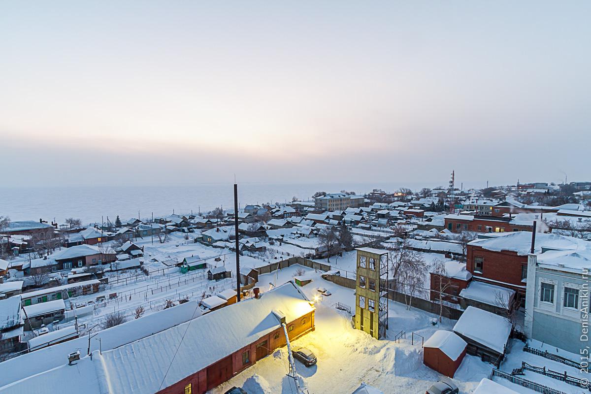 Хвалынск зимой с высоты 3