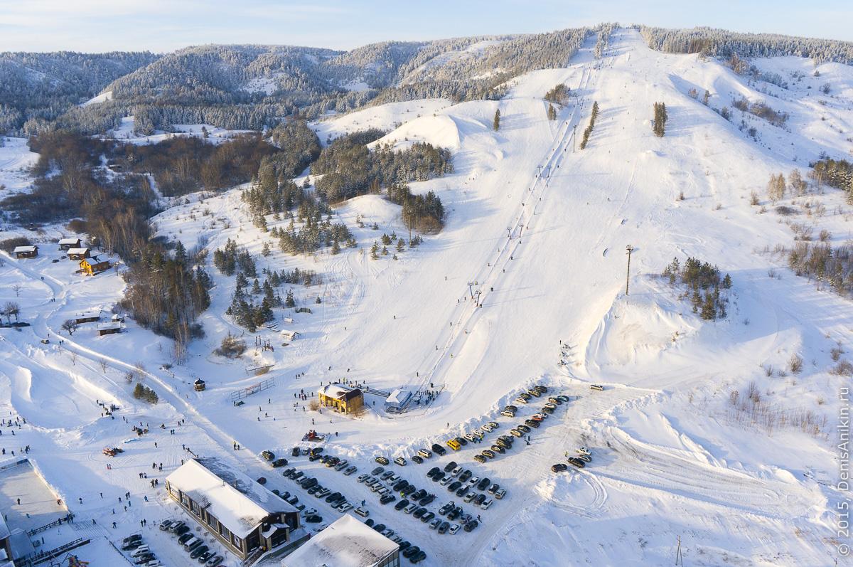 Хвалынский горноложный курорт с высоты 4