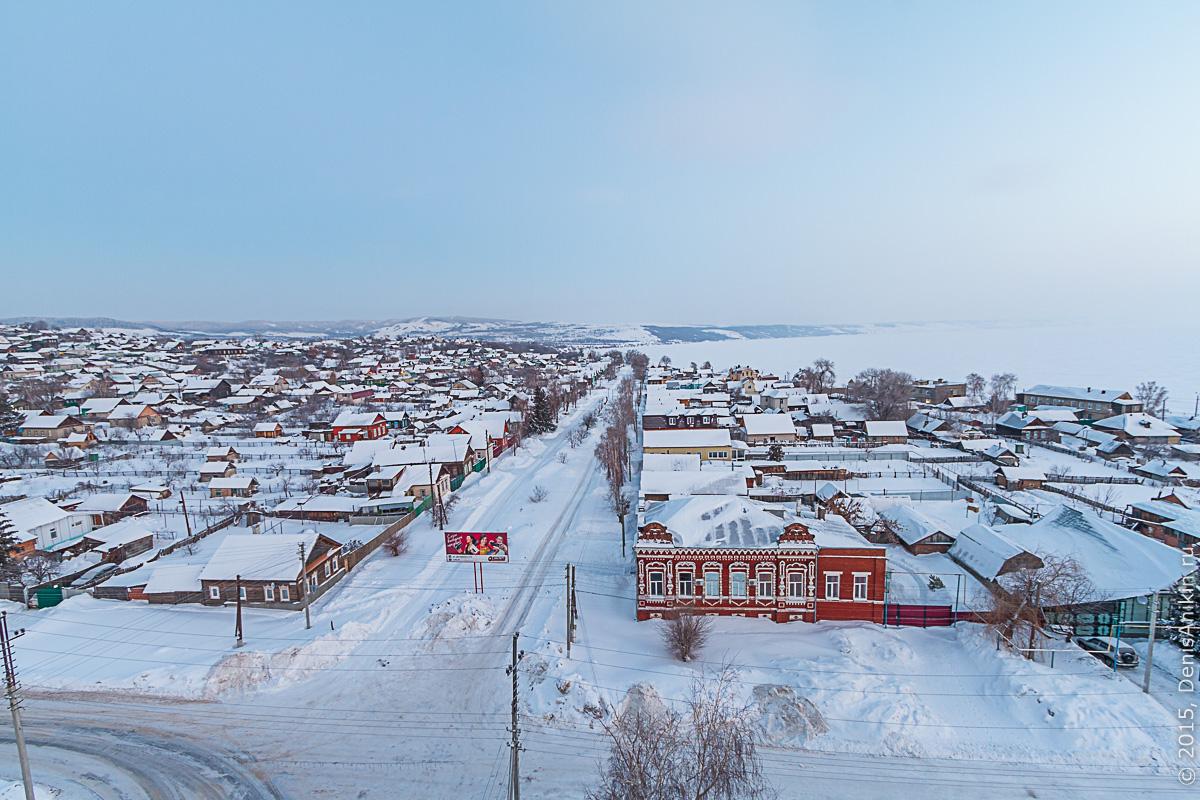 Хвалынск зимой с высоты 4