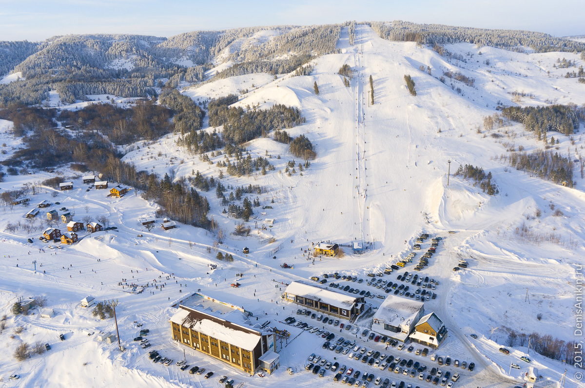 Хвалынский горноложный курорт с высоты 5
