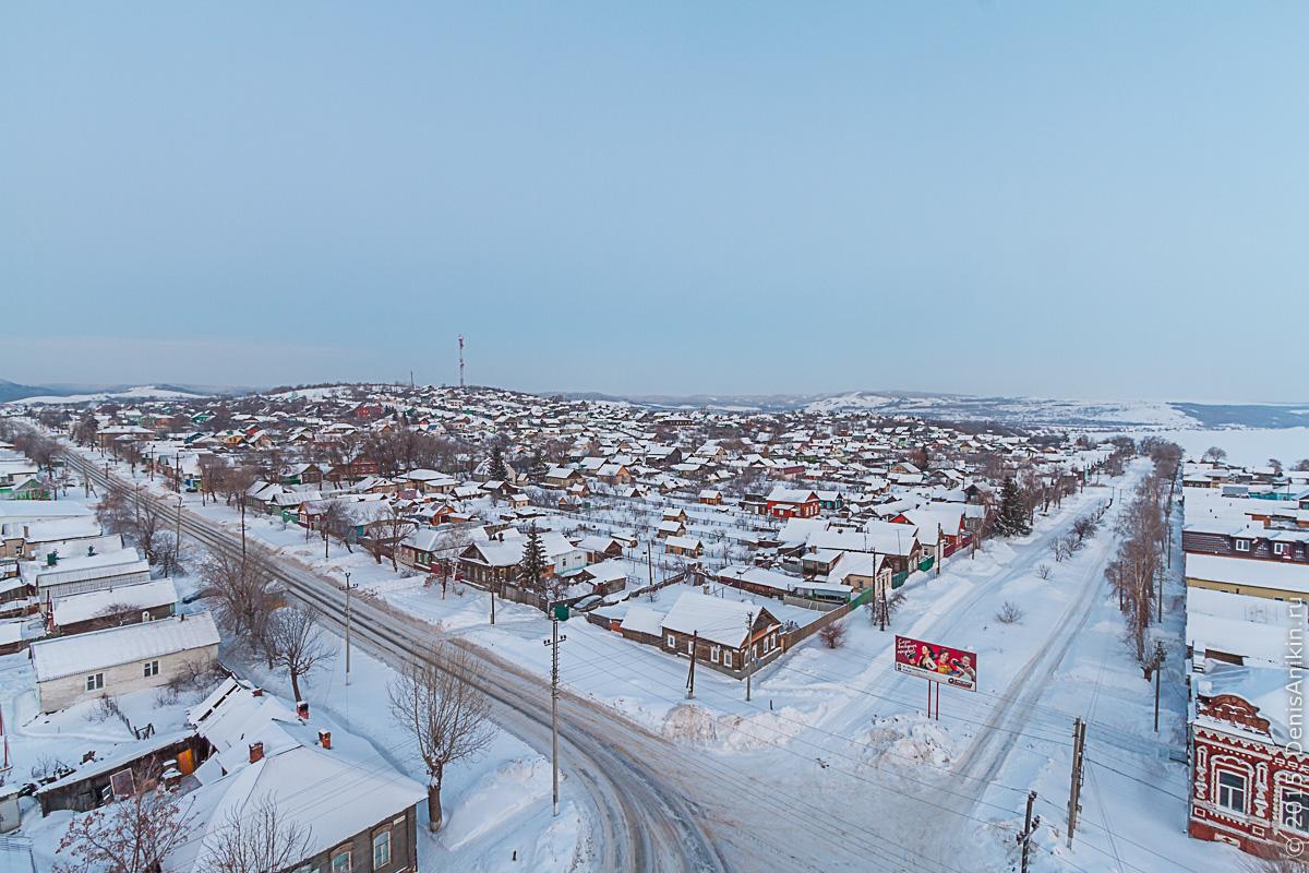 Хвалынск зимой с высоты 5