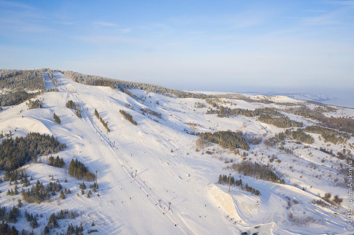 Хвалынский горноложный курорт с высоты 6