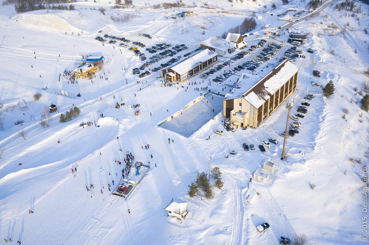 Хвалынский горноложный курорт с высоты 8