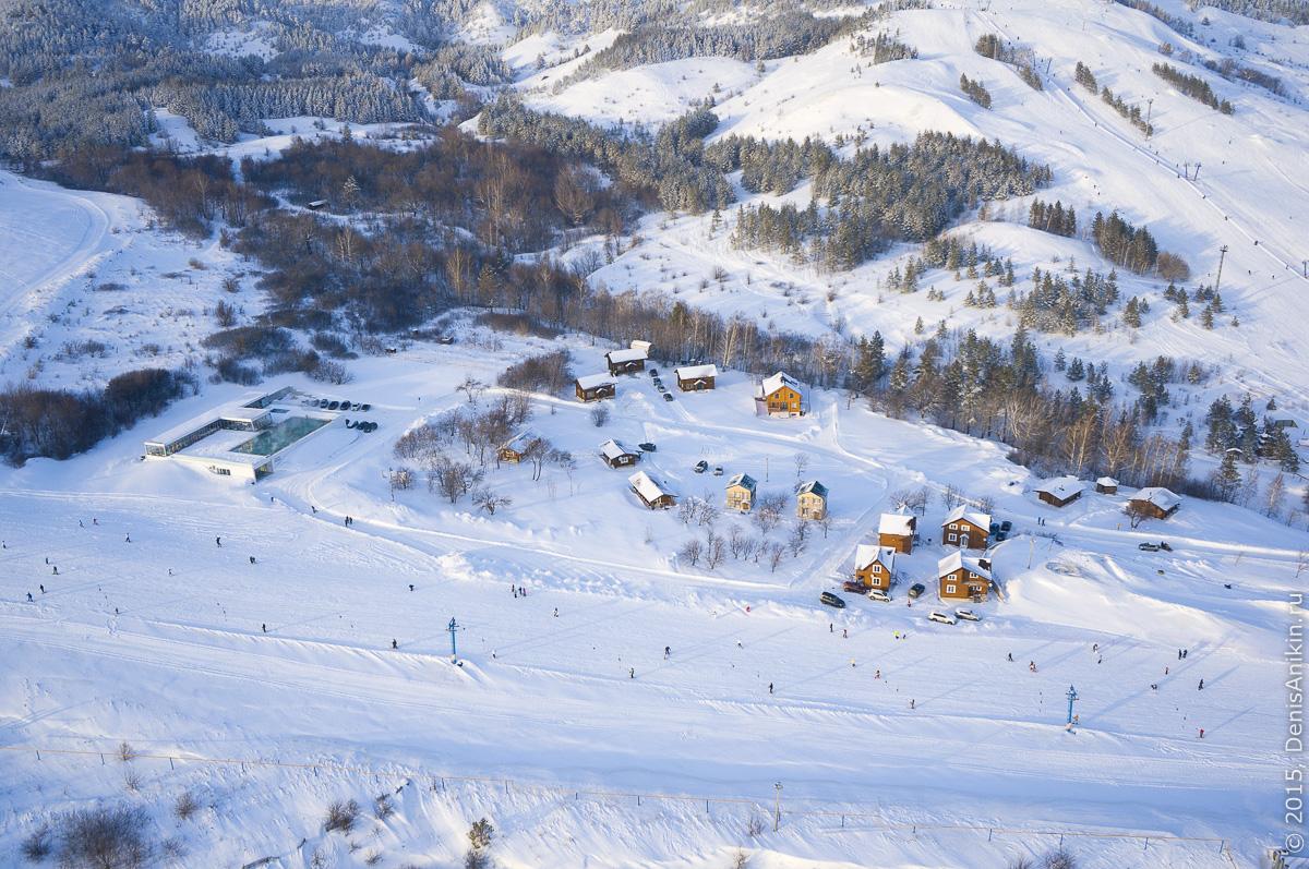 Хвалынский горноложный курорт с высоты 9