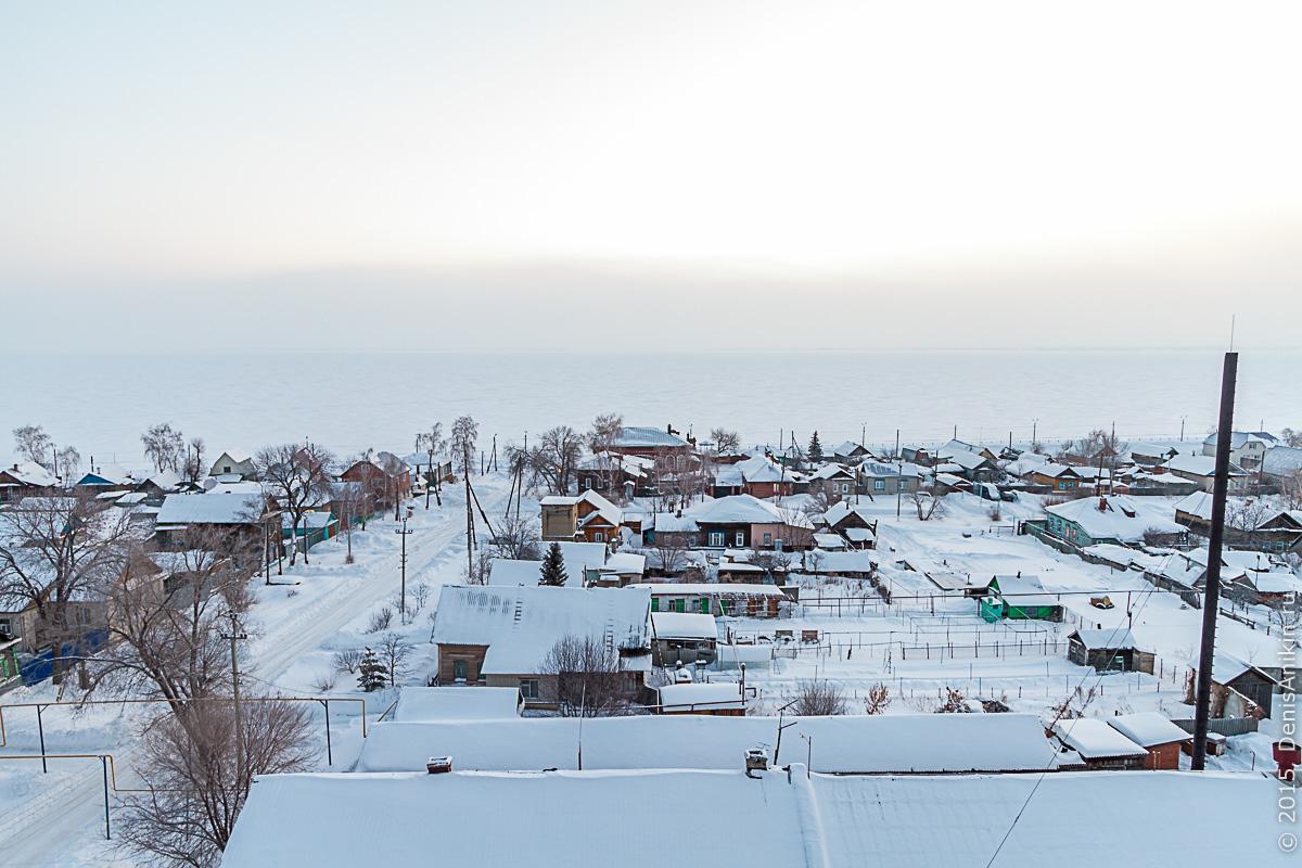 Хвалынск зимой с высоты 10