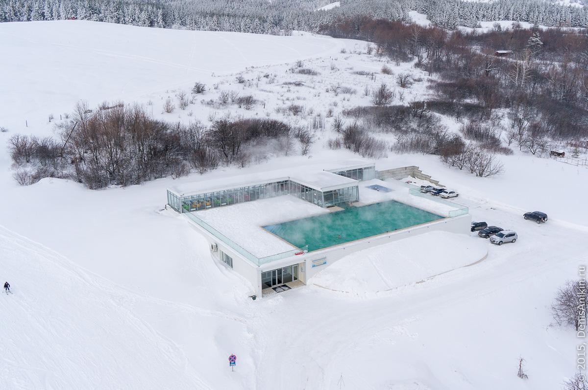 Хвалынский горноложный курорт с высоты 10