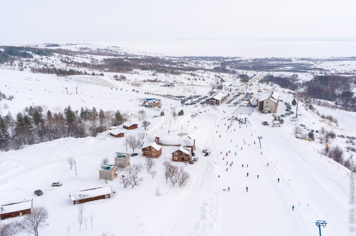 Хвалынский горноложный курорт с высоты 11