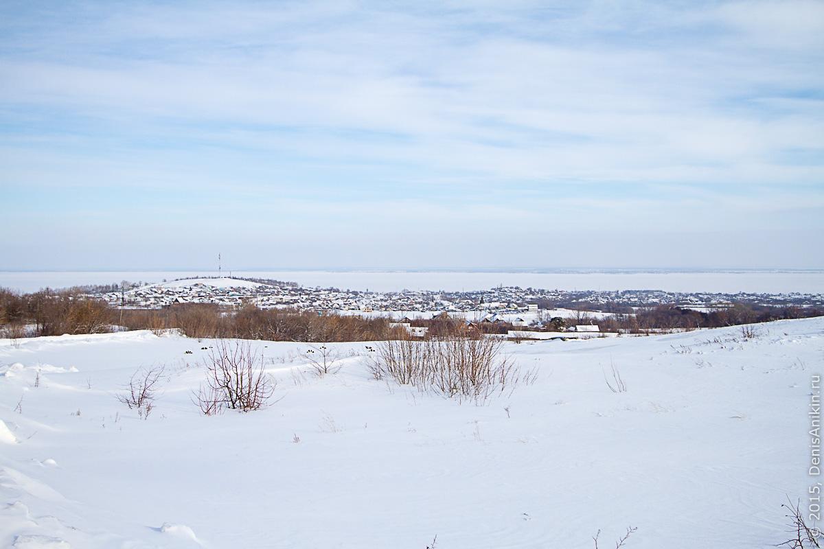 Хвалынск зимой с высоты 11