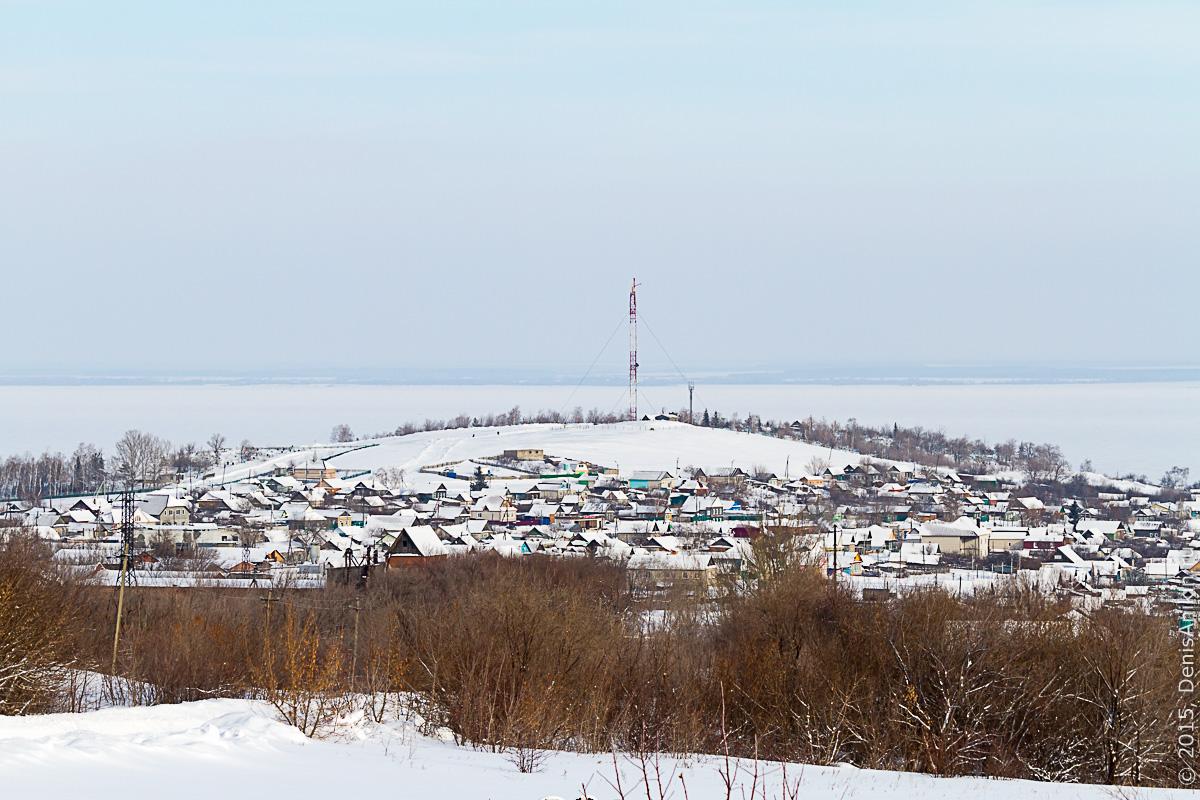 Хвалынск зимой с высоты 12