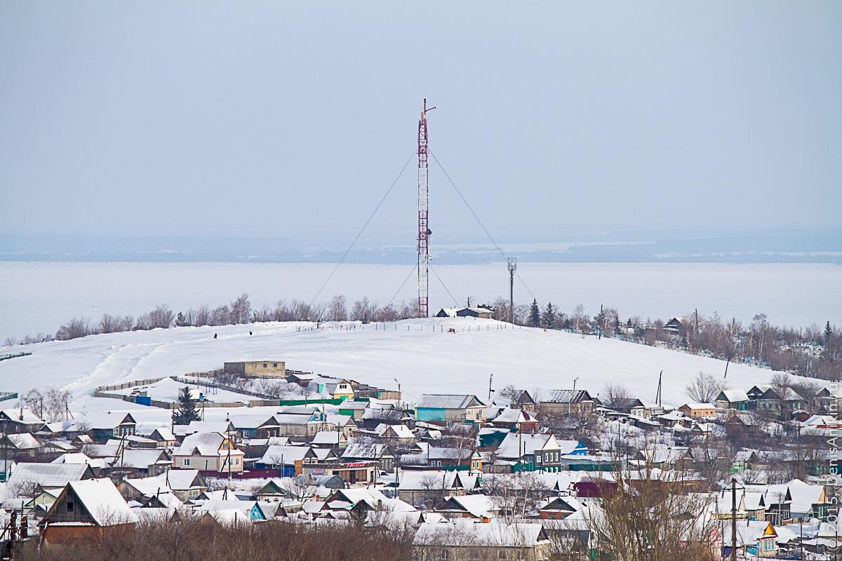 Хвалынск зимой с высоты 13