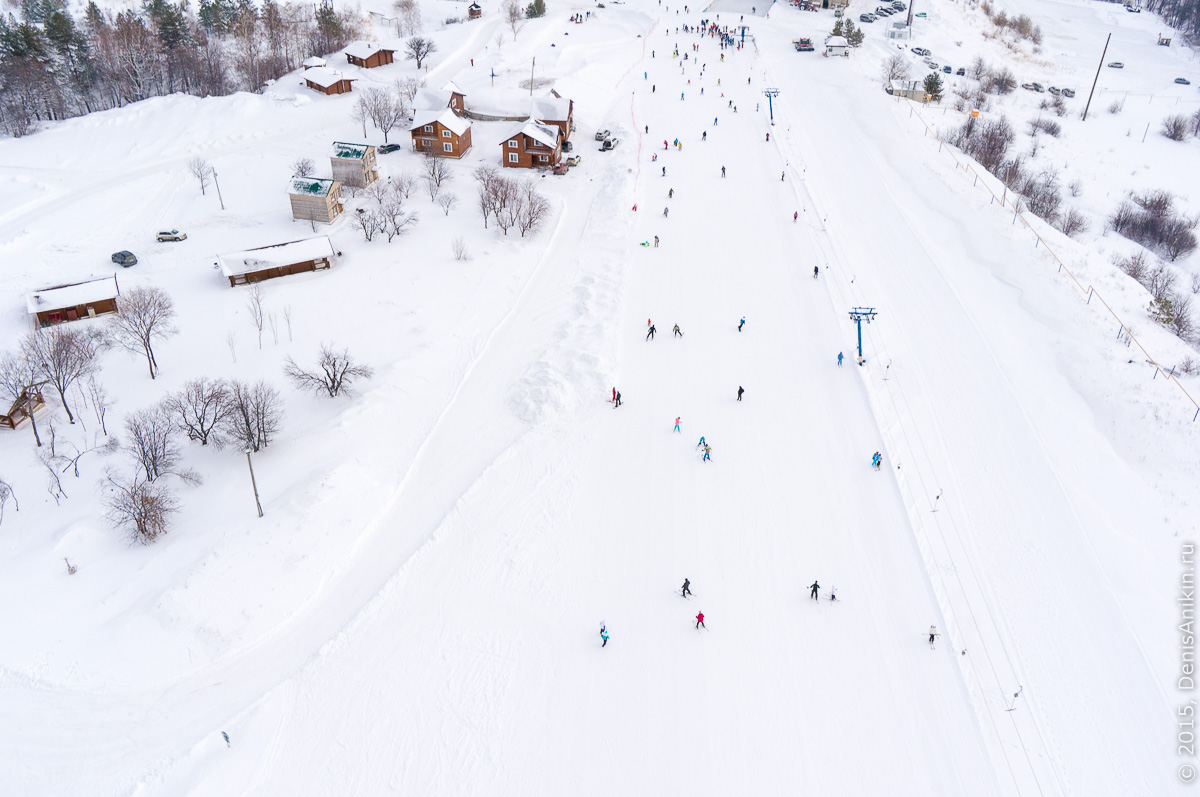 Хвалынский горноложный курорт с высоты 13