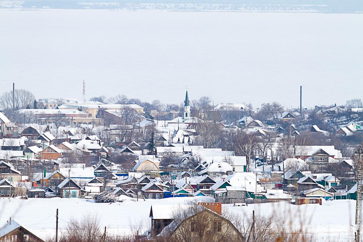 Хвалынск зимой с высоты 14