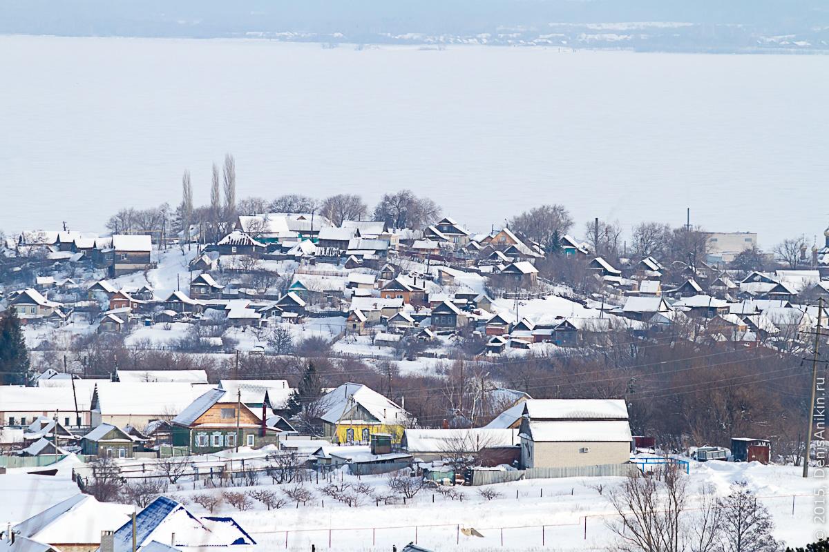 Хвалынск зимой с высоты 15