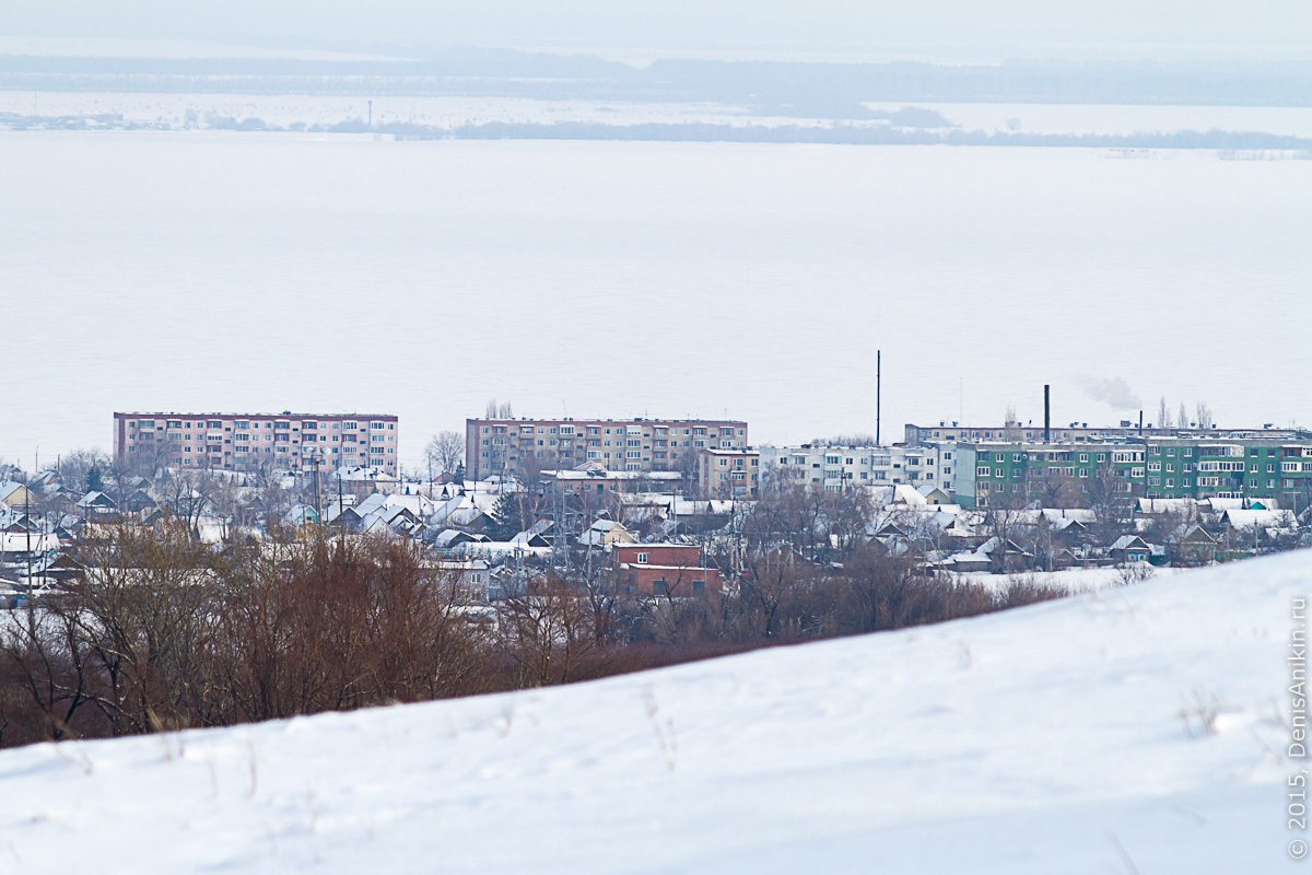 Хвалынск зимой с высоты 16