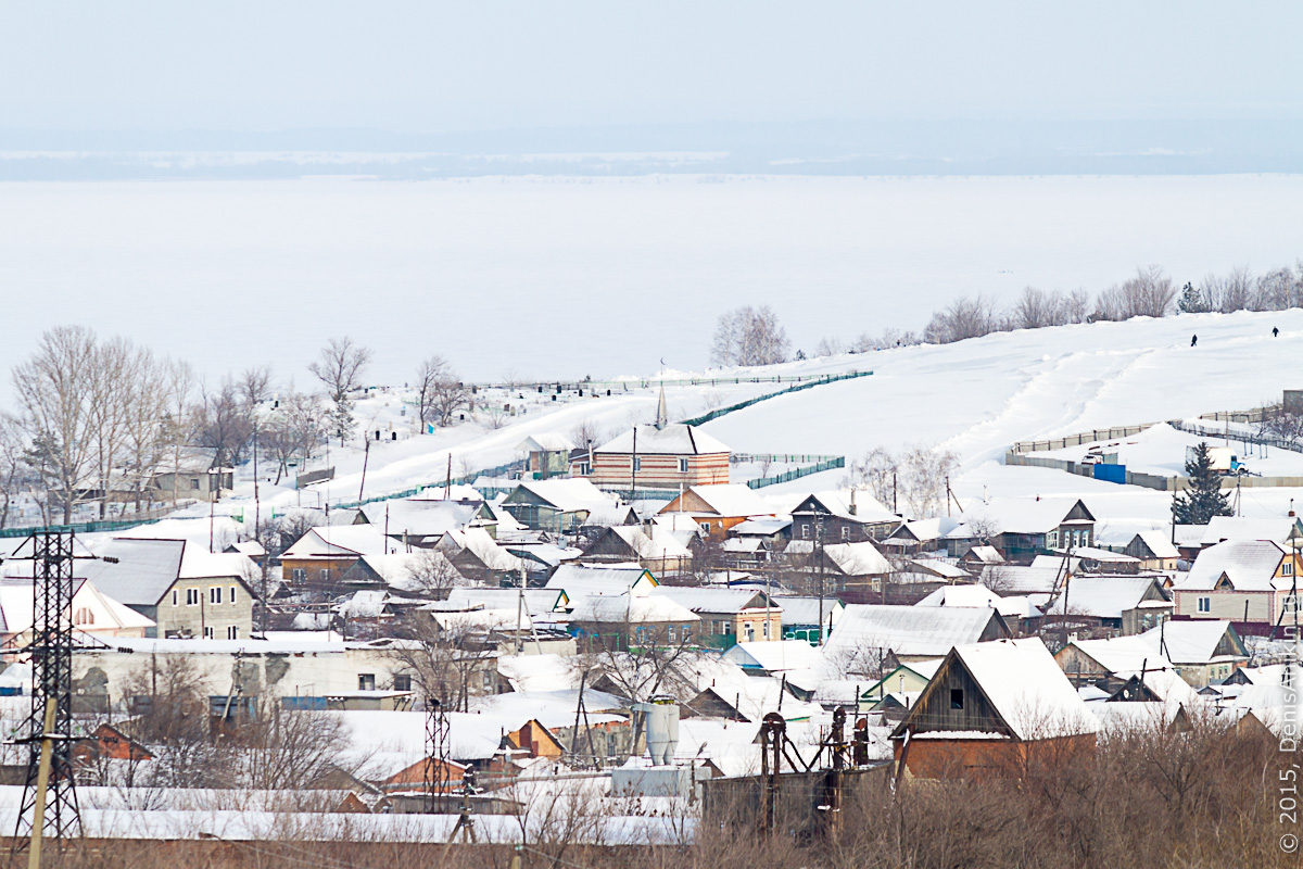 Хвалынск зимой с высоты 17