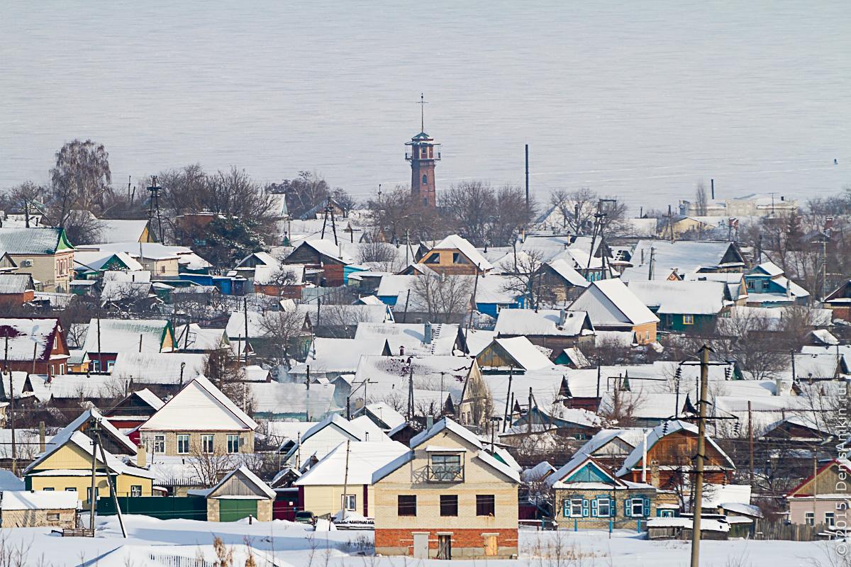 Хвалынск зимой с высоты 19