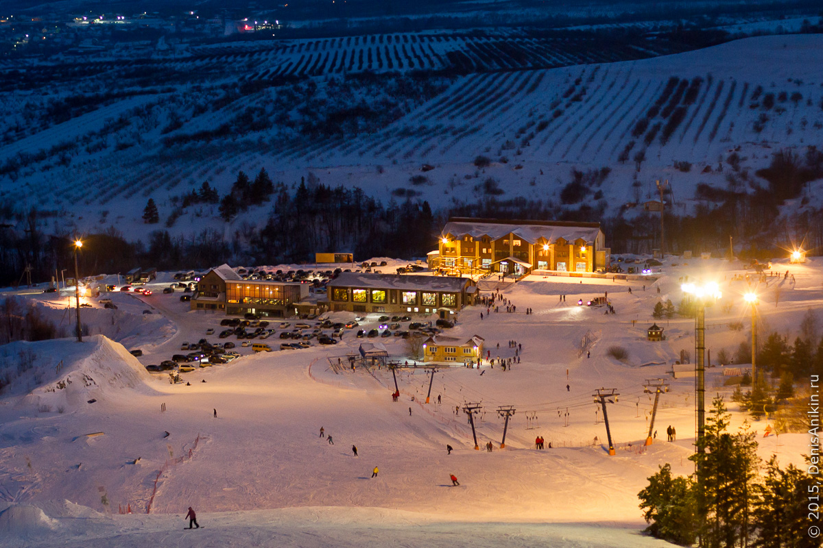 Хвалынский горноложный курорт с высоты 17