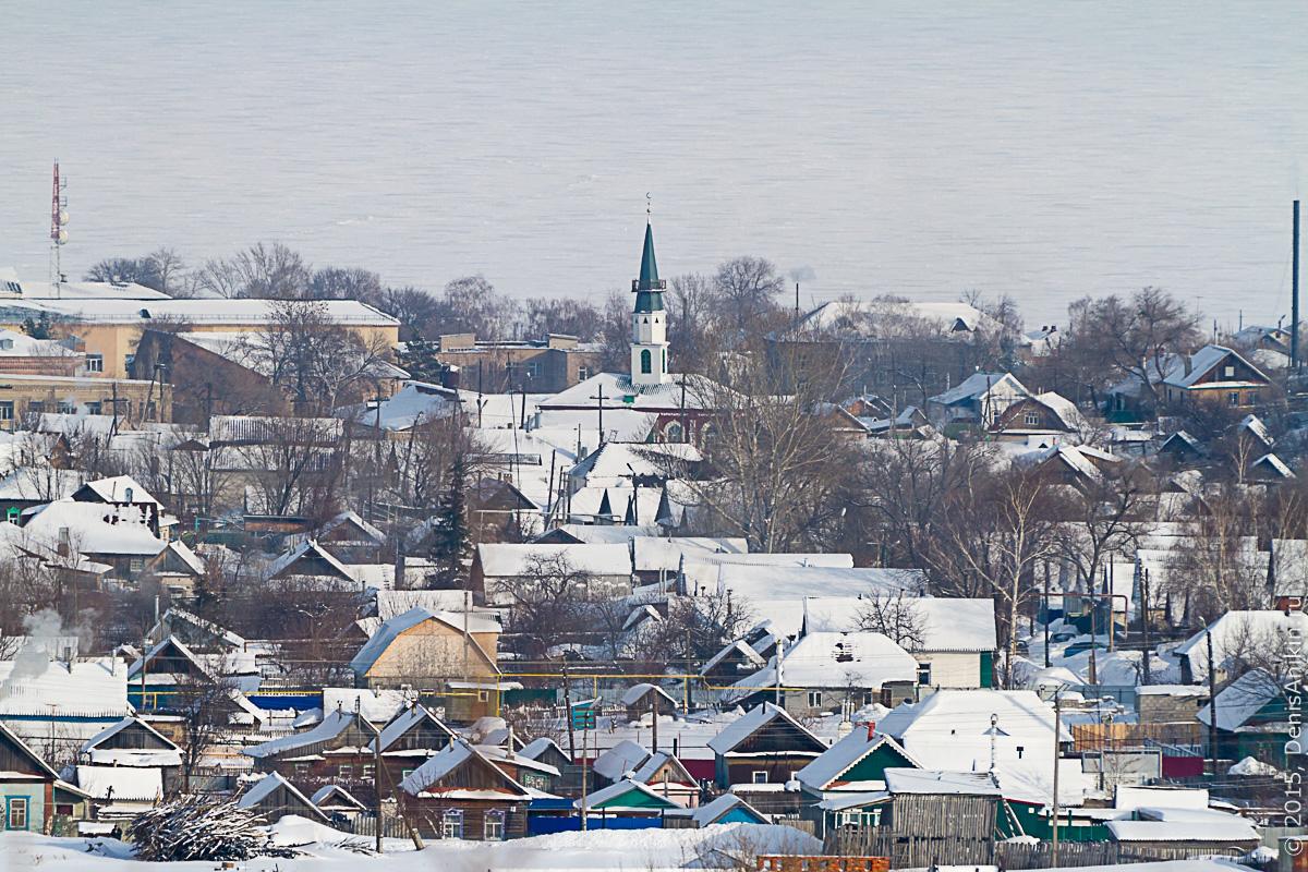 Хвалынск зимой с высоты 20
