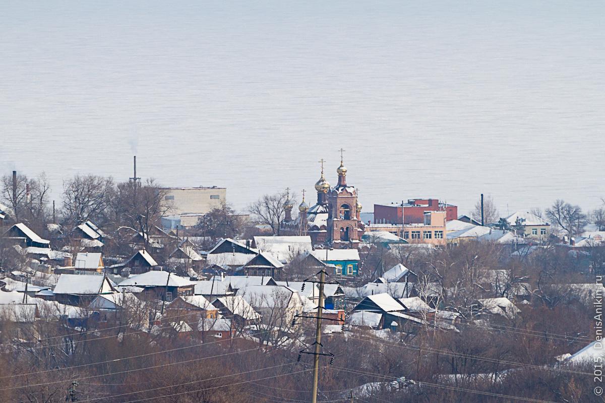 Хвалынск зимой с высоты 21