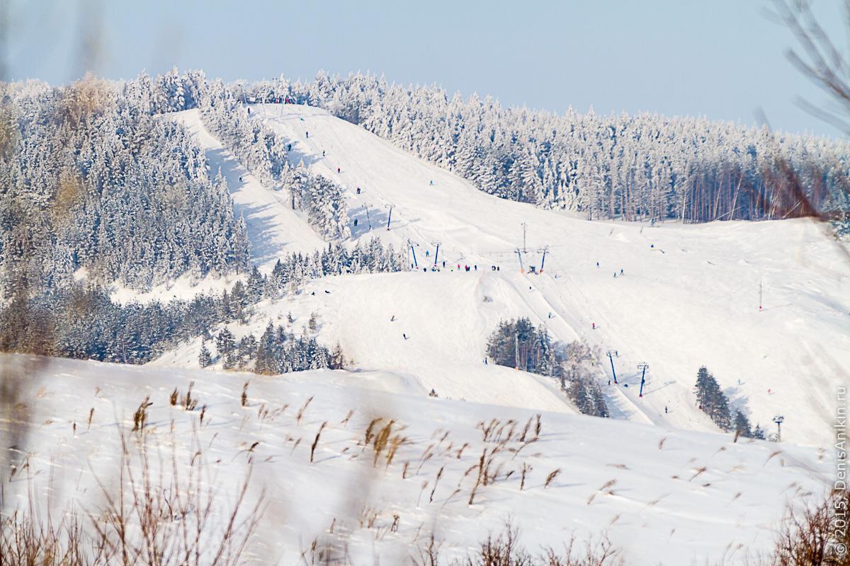 Хвалынск зимой с высоты 22