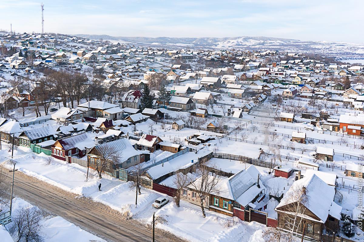 Хвалынск зимой с высоты 27