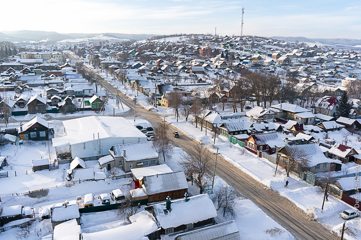 Хвалынск зимой с высоты 28