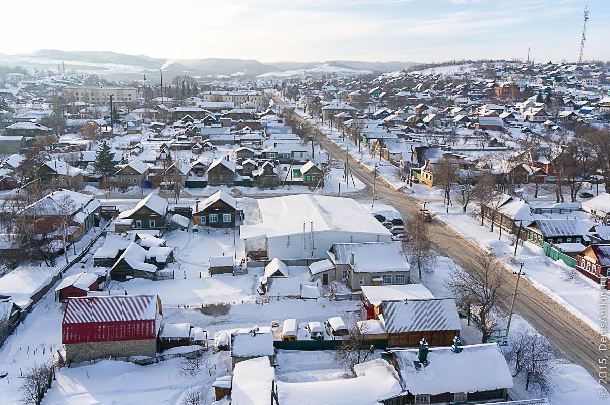 Хвалынск зимой с высоты 29