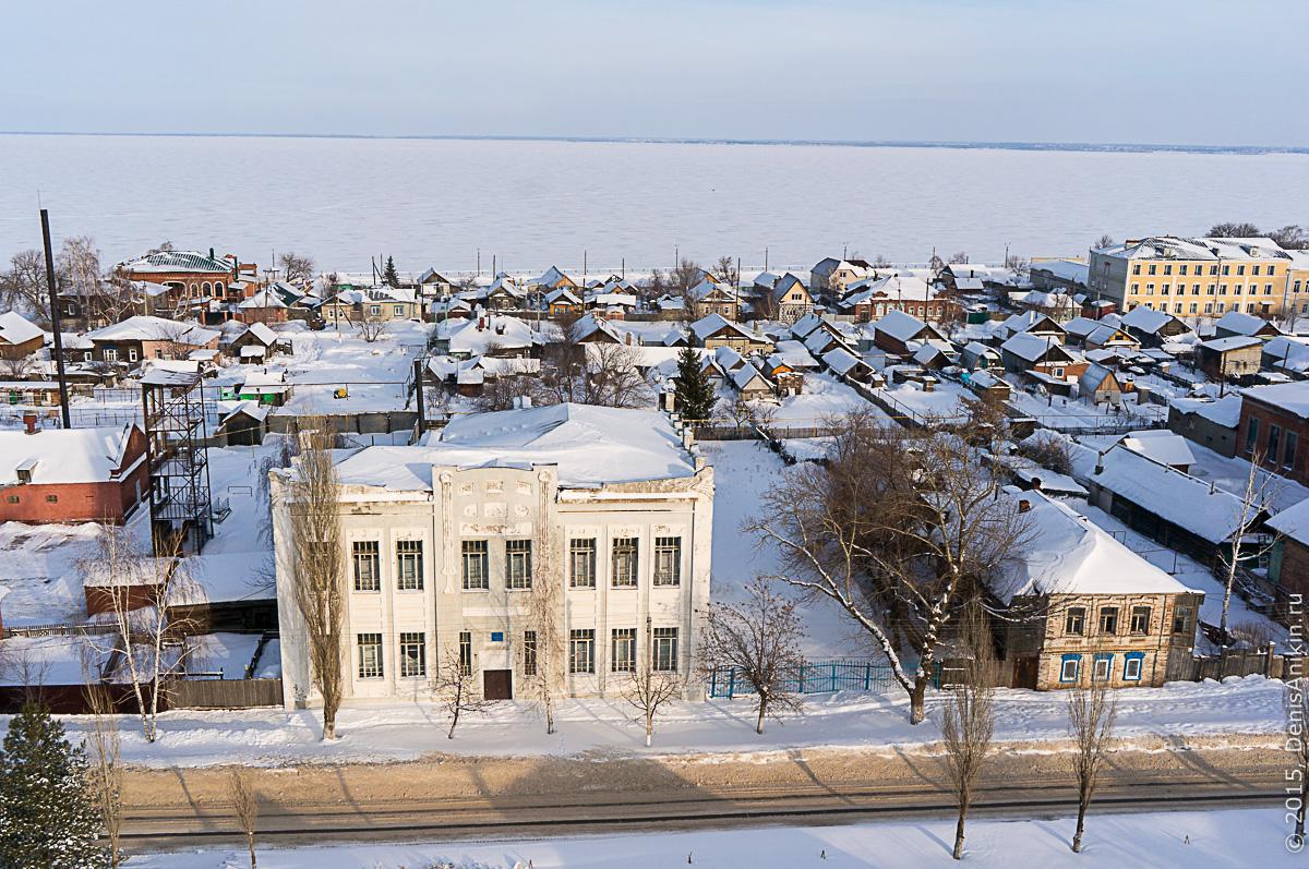 Хвалынск зимой с высоты 32