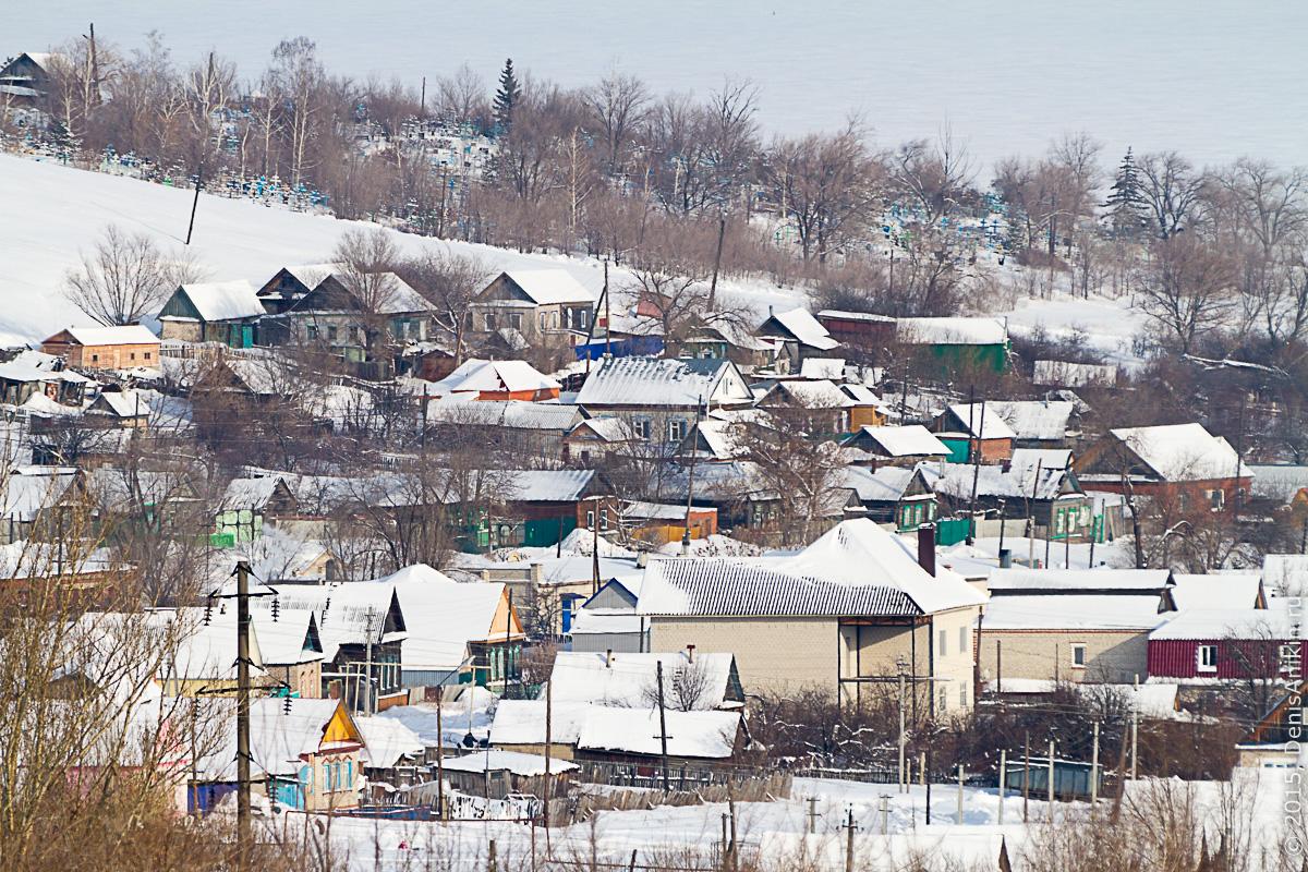 Хвалынск зимой с высоты 18