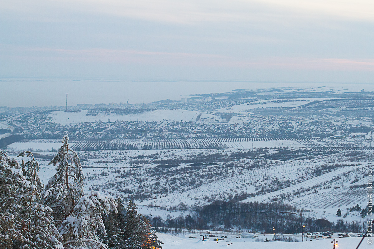 Хвалынск зимой с высоты 23