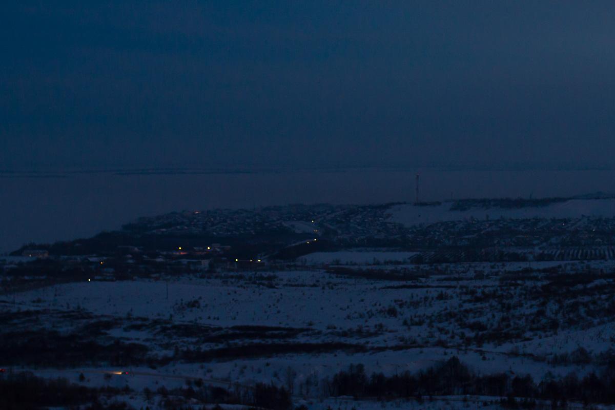 Хвалынск зимой с высоты 24