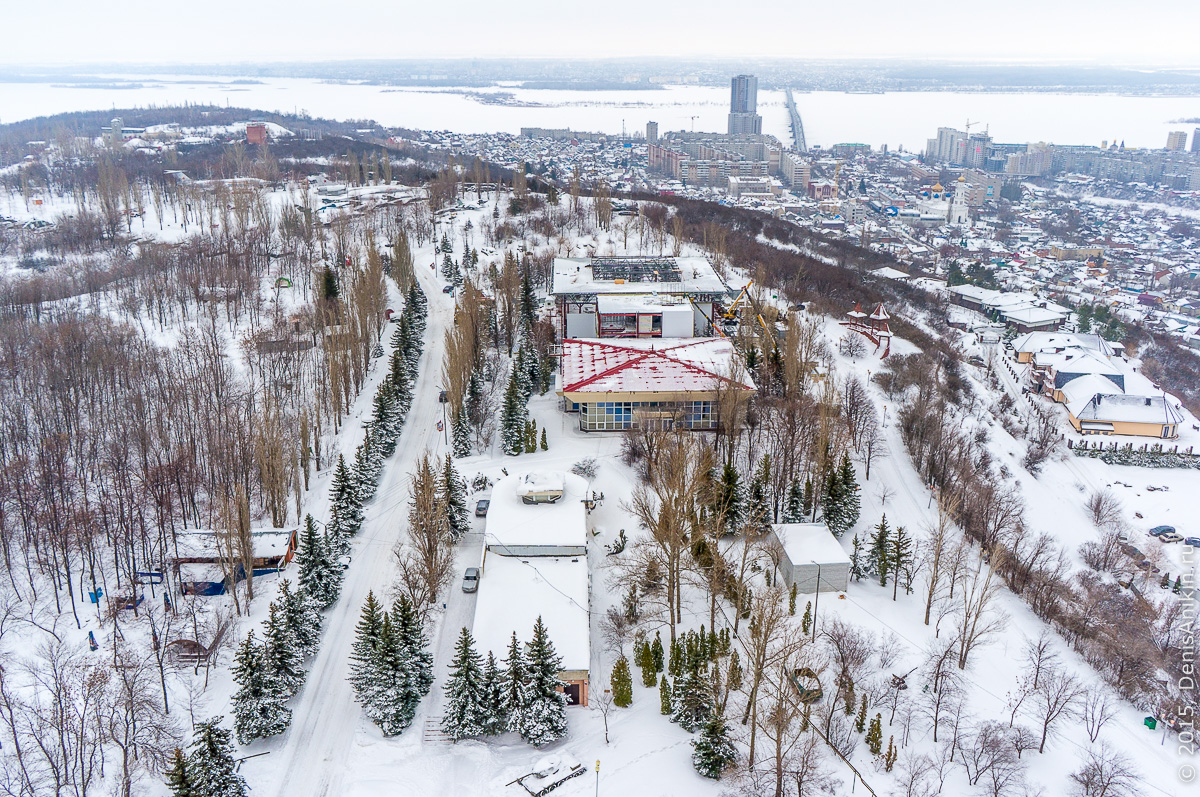 Парк Победы Саратов аэросъемка