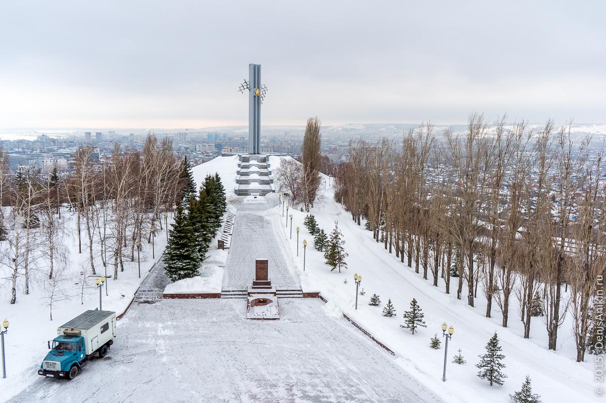 Парк Победы Саратов Журавли с высоты
