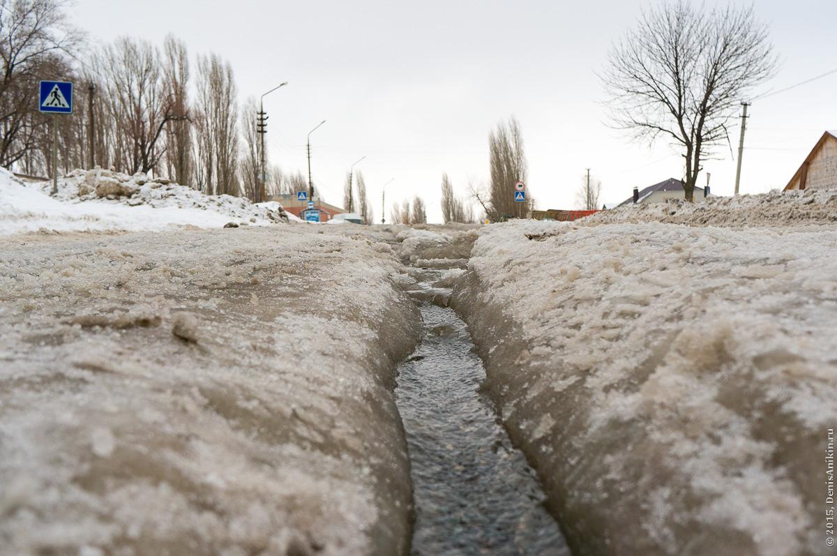 Большая Садовая, Саратов, вода